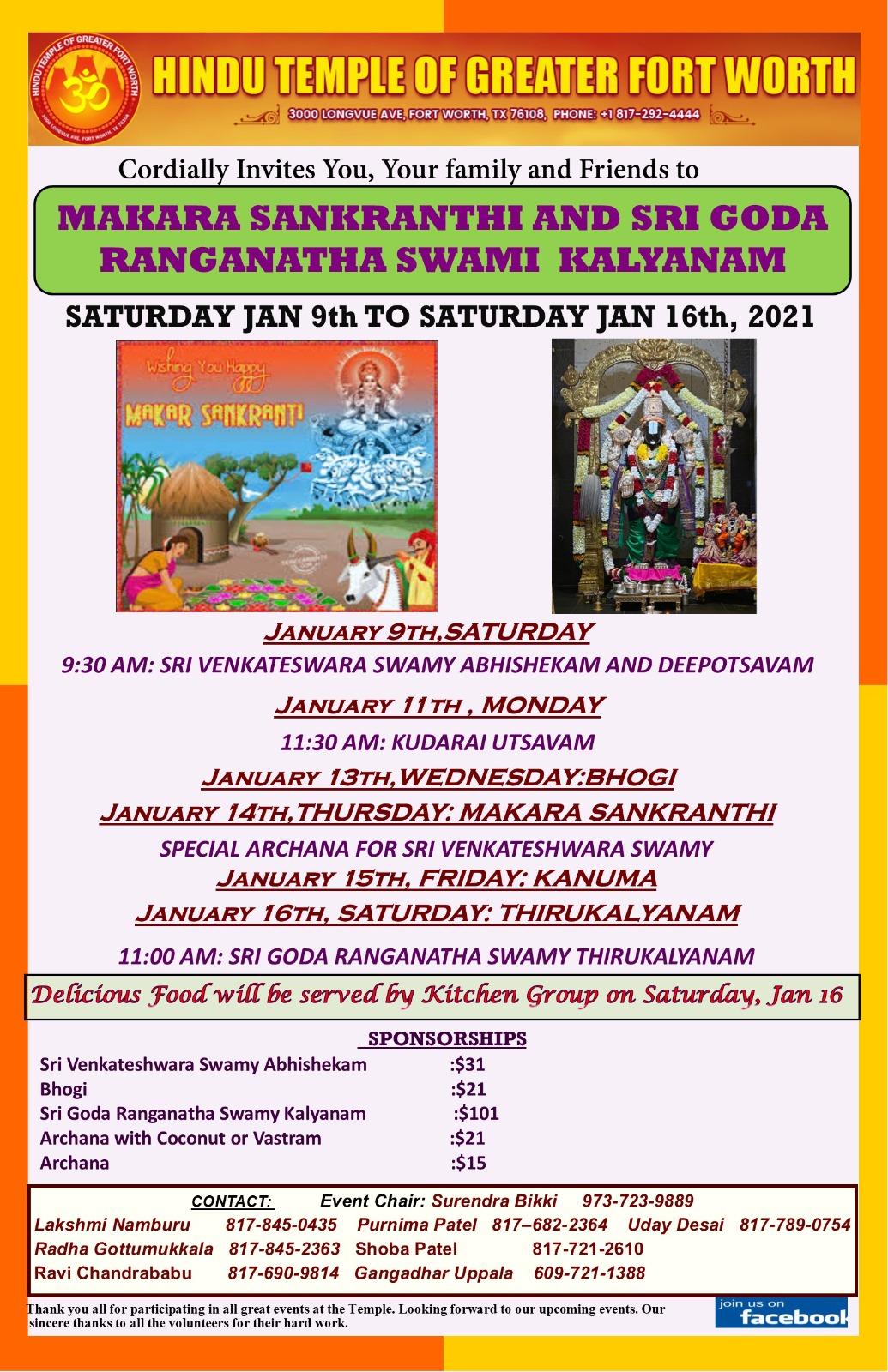 Makara Sankranthi & Sri Goda Ranganatha Swami Kalyanam